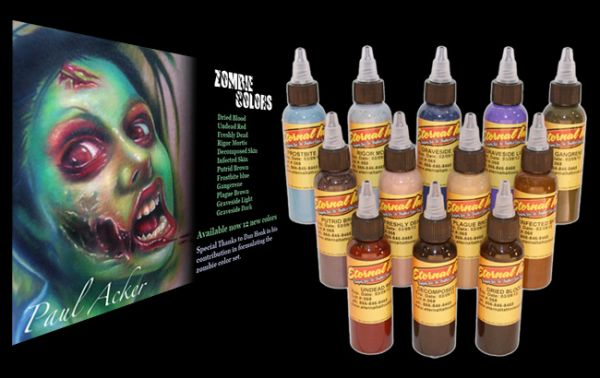 Kit eternal ink zombie c 12 tubos 30ml cada just supply for Motorcity tattoo supply